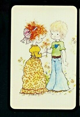 AU3 • Buy One Sarah Kay Blank Back Swap Card Girl And Boy Talking Courting With Flowers