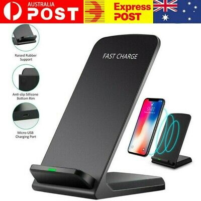 AU12.49 • Buy Qi Wireless Charger Fast Charging Stand Dock For Samsung S8 S9 S10 Plus Note 8 9
