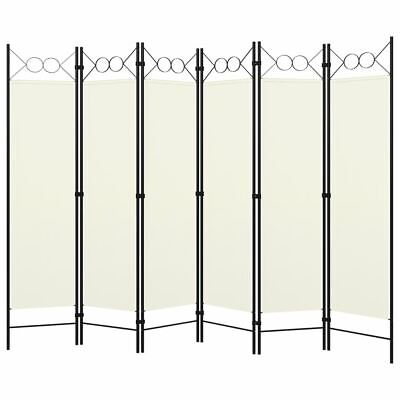 AU55.95 • Buy Foldable Fabric Screen Divider Iron Frame 6 Panel Standing Room Separator 240cm