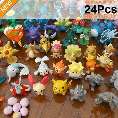 £12.52 • Buy 24pc/set Pokemon Figures Kids Action Pockit Monsters Mixed Lots Gifts Presents.