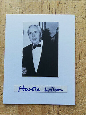 £19.95 • Buy Harold Wilson British Prime Minister  Hand-signed Photo Card