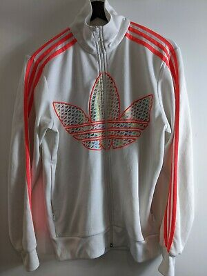 AU50.40 • Buy Adidas Jacket White And Neon Pink Size S (item 698)