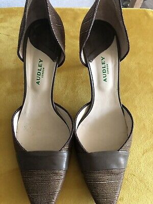 Audley Shoes 39.5 6 Brown Heeled • 2.50£