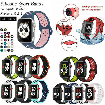AU6.59 • Buy For Apple Watch Series 1 2 3 4 Se 5 6 7 38MM-44MM Soft SILICONE Sport Strap Band