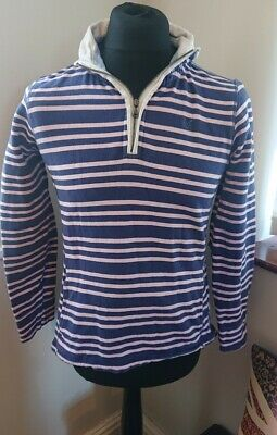 AU32.44 • Buy Womens Crew Clothing Pink And Blue Quater Zip Top Size 10