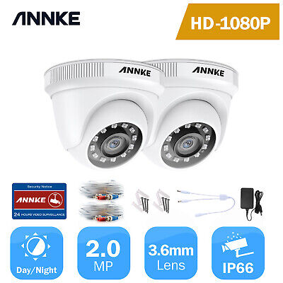 £39.99 • Buy ANNKE 2pcs Dome White CCTV HD 1080p Outdoor Camera Home Security System Kit IP66