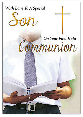 £2.49 • Buy Special Son First Holy Communion Card Boy's 1st  Holy Religious Gift New