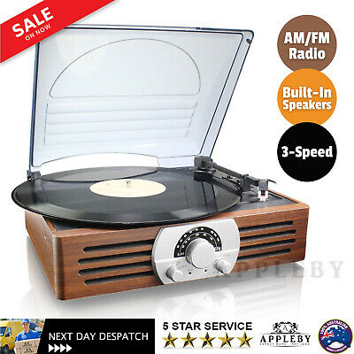 AU60.22 • Buy Thomson Record Player 3-Speed Turntable AM/FM Radio Built-In Stereo Speakers NEW
