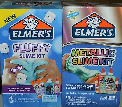 AU32.20 • Buy 2 New Elmer's Slime Kits Fluffy & Metallic