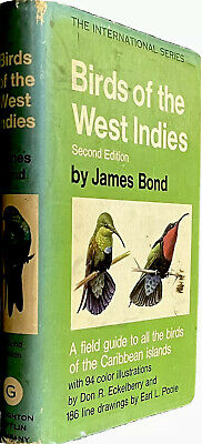 $69 • Buy BIRDS OF THE WEST INDIES James Bond 1971  1st Print Hardcover VG Ian Fleming 007