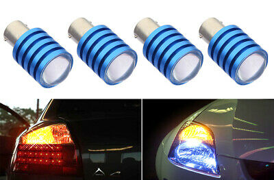 $12.99 • Buy 2 Prs 1156 1259 LED 7W  Yellow Replace For Rear Turn Signal Light Bulbs K122