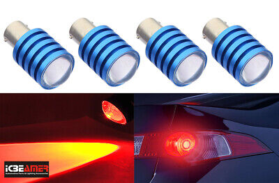 $12.99 • Buy 2 Pairs 7.5W LED Chips Red Replace Halogen Rear Tail Brake Light Bulb I34