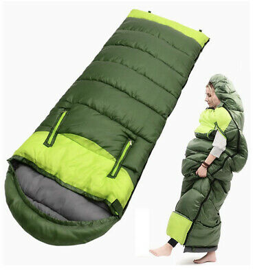$48 • Buy Camping 0 Degree Sleeping Bag 32℉/0℃ Extreme Winter Sleeping Bags Color Is BLUE!