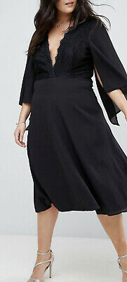 AU50 • Buy Asos Curve Midi Cape Dress With Lace