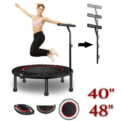 £59.59 • Buy 48 40  Mini Trampoline Rebounder Adults Kids Fitness Gym Exercise With Handle UK