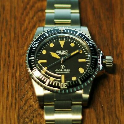 $ CDN191.11 • Buy Seiko NH35 - Vintage 5517 Submariner Milsub Style Homage/Mod Automatic Watch