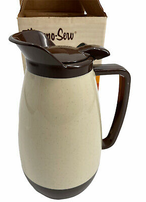 AU32.21 • Buy Vintage Thermo-Serv  Westbend 32 Oz Insulated Server Brown Speckled Ivory