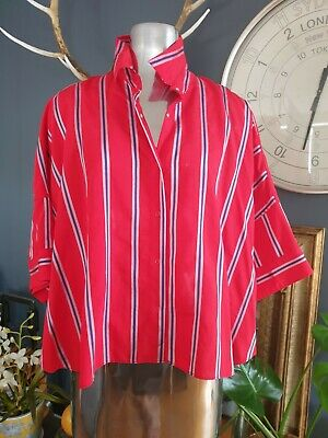 AU180 • Buy M A Dainty Designer Top New With Tags RRP $299 Feels Like Silk Size 16 Relaxed
