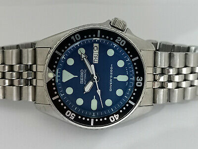 $ CDN0.01 • Buy Lovely Blue Modded Seiko 7s26-0030 Skx013 Automatic Mens Watch Sn 5n0341