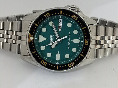 $ CDN0.01 • Buy Lovely Green Modded Seiko 7s26-0030 Skx013 Automatic Mens Watch Sn 982224