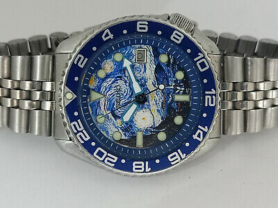 $ CDN204.34 • Buy Starry Night  Modded Seiko Diver 7002-700a Automatic Men's Watch Sn 920270