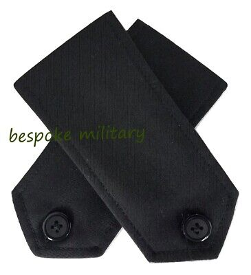 £7.99 • Buy New Black Police Security Button On Shirt Epaulettes Epaulette Collar Numbers