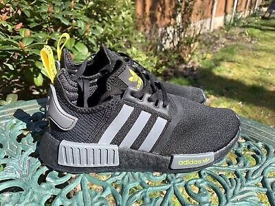 $ CDN34.55 • Buy Adidas Boost Nmd R1 Trainers Rare Sample Pair New Without Tags Uk 5 Black Yellow