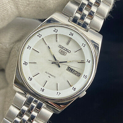 $ CDN41.23 • Buy Vintage Seiko 5 Automatic 17 Jewels Cal.7009A Day Date Men's Railway Time Watch