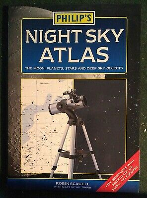 Philips Night Sky Atlas By Robin Scagell PB 2004 1st Edition • 0.99£