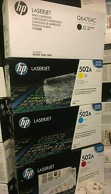 $ CDN380.28 • Buy HP 501A HP 502A Q6470A Q6471A Q6472A Q6473A Laserjet 3600 TONERS VAT INCLUDED