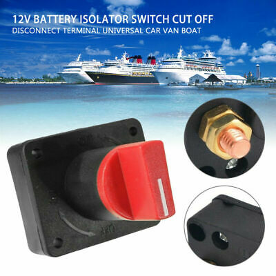 £6.22 • Buy Mini Battery Isolator Master Switch On/Off Marine Auto 12V For Car Boat Van 100A