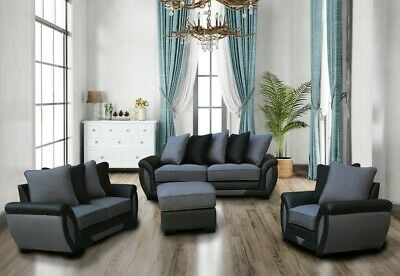 £249 • Buy Lazy Boy Sofa Set Suites Settee Grey Charcoal Fabric 3 2 1 Seater Armchair