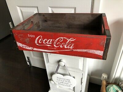 £33 • Buy Solid Red Vintage Style Wooden Coca Cola Crate Tray Wood Box 46x31cm