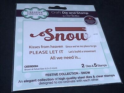£2.99 • Buy Creative Expressions Craft Die & Stamp Set - Festive Collection - Snow