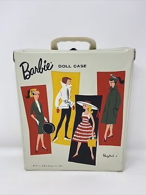 $ CDN37.58 • Buy Vintage 1961 Ponytail Mattel Barbie BEIGE Almond Vinyl Single DOLL CASE