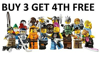 £9.49 • Buy LEGO Minifigures Series 4 8804 New Pick Choose Your Own BUY 3 GET 4TH FREE