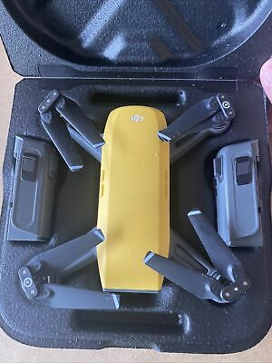 AU450.71 • Buy DJI Spark HD Camera Drone * Fly More Combo * Sunrise Yellow *Great Condition*