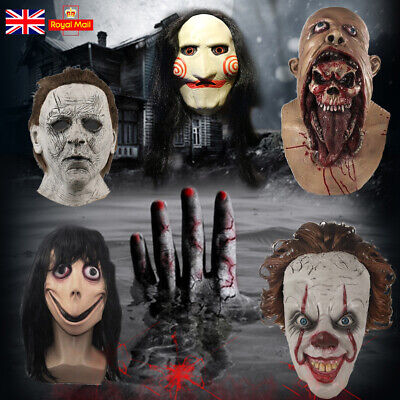 """£8.99 • Buy """"Pennywise IT Clown"""" Silicone Halloween Mask Cosplay Scary Full Face Mask UK"""