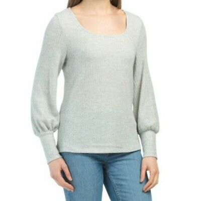 $ CDN46.36 • Buy Anthropologie W5 Rib Knit Balloon Sleeve Square Neck Top Gray Size Small New