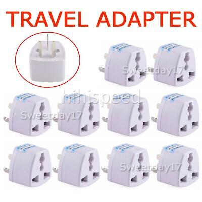 AU16.50 • Buy 10x Universal Travel Adapter International UK USA EU To AU Australian Power Plug