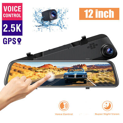 AU119.19 • Buy 12  Dual Dash Cam 2.5K Front And Rear Video DVR Recorder Mirror Car Dash Camera