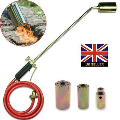 £28.49 • Buy Long Arm Propane Butane Gas Torch Burner Blow Kit Roofers Roofing Brazing + Hose
