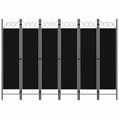 AU60.95 • Buy Freestanding Screen Divider Iron Frame Folding Room Separator 6-Panel Partition