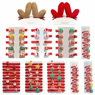 $ CDN6.24 • Buy 10pcs/set Hair Accessories Santa Elk Duckbill Clip Cute Girls Christmas Headwear