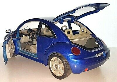 Models Car Model Real Volkswagen Beetle Toy For Kids And Mens Gift Blue • 10.87£