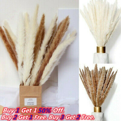 £4.77 • Buy 15PCS Artificial Natural Dried Pampas Grass Flower Bunch Wedding Bouquet Decor