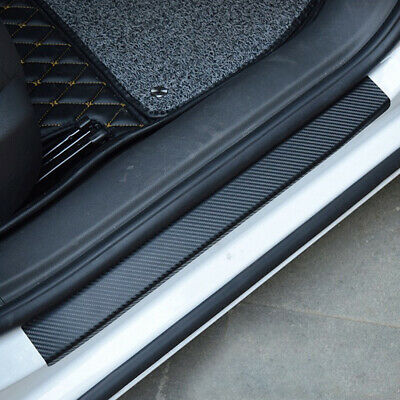 AU7.99 • Buy 4x Anti-Kick Carbon Fiber Car Door Sill Scuff Protector Sticker Auto Accessories