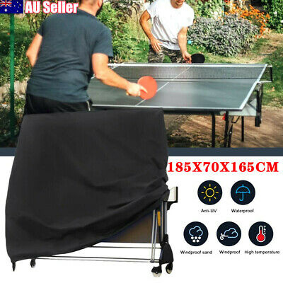 AU27.99 • Buy Black Full Size Table Tennis Ping Pong Table Cover Indoor/Outdoor Waterproof AU