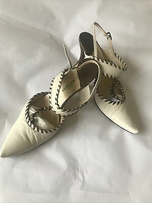 Shoes Women's Cream Slingback Style Boxed Size 38 By Audley • 10£