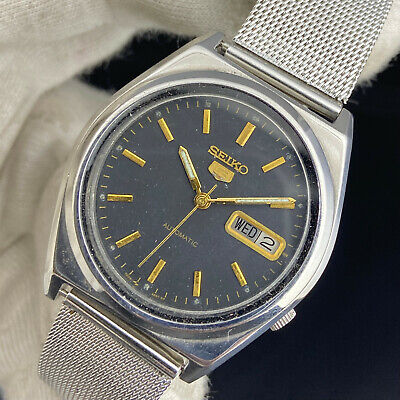 $ CDN36.23 • Buy Vintage Seiko 5 Automatic 17 Jewels Cal.7009A Day Date Men's Wrist Watch
